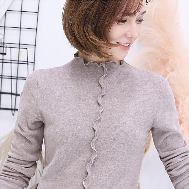 【安希娅】竹纤维+德绒超暖打底单衣S9113