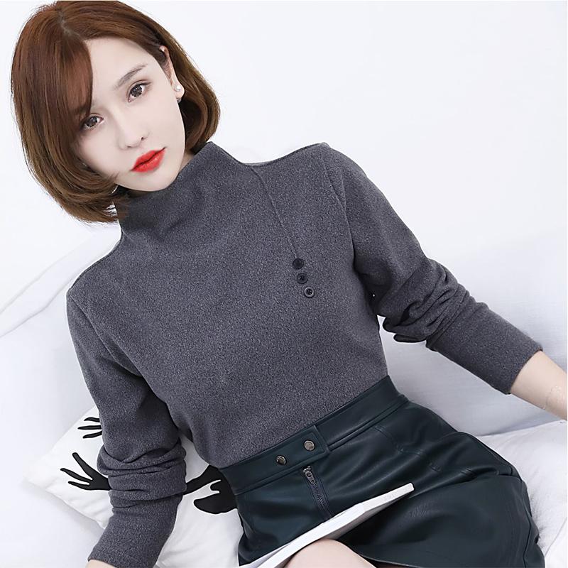 【安希娅】竹纤维+德绒超暖打底单衣S9109