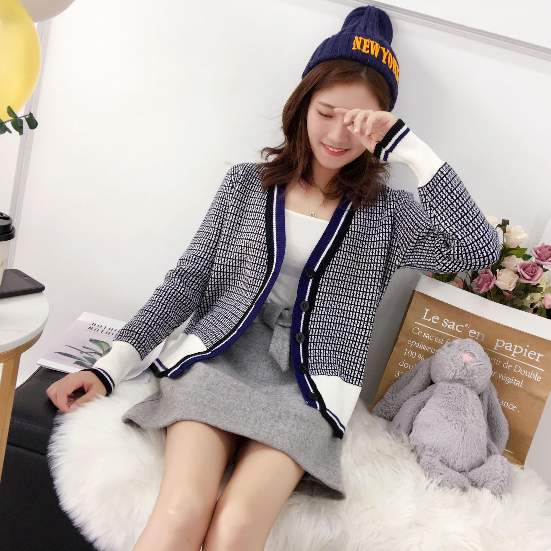 【安希娅】竹纤维毛衫S9135