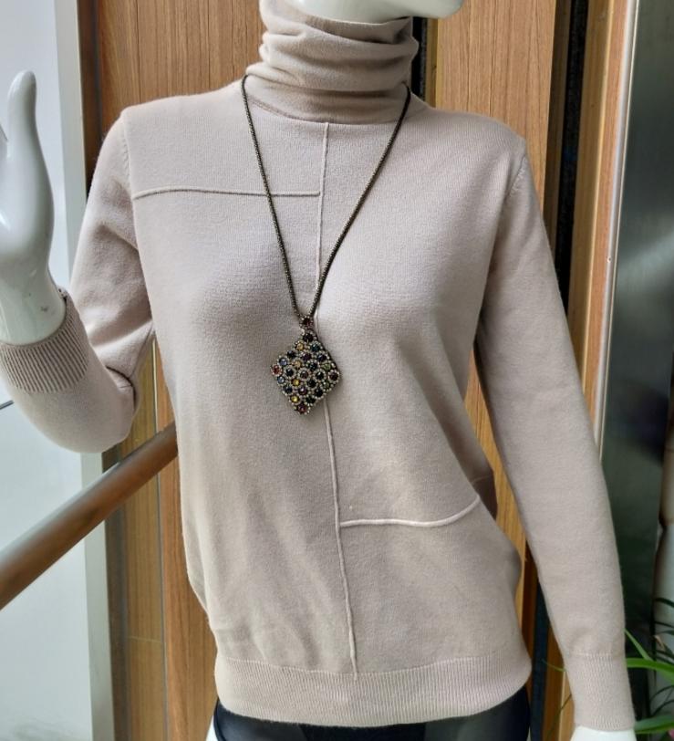 【安希娅】竹纤维羊毛打底衫S8022