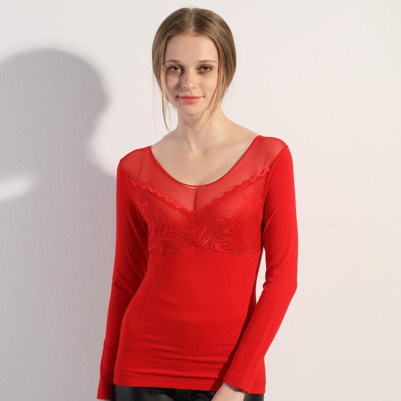 【安希娅】竹纤维加厚拉绒保暖单衣Y9105