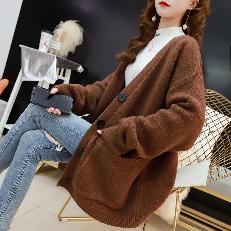 【安希娅】竹纤维羊毛衫S9117