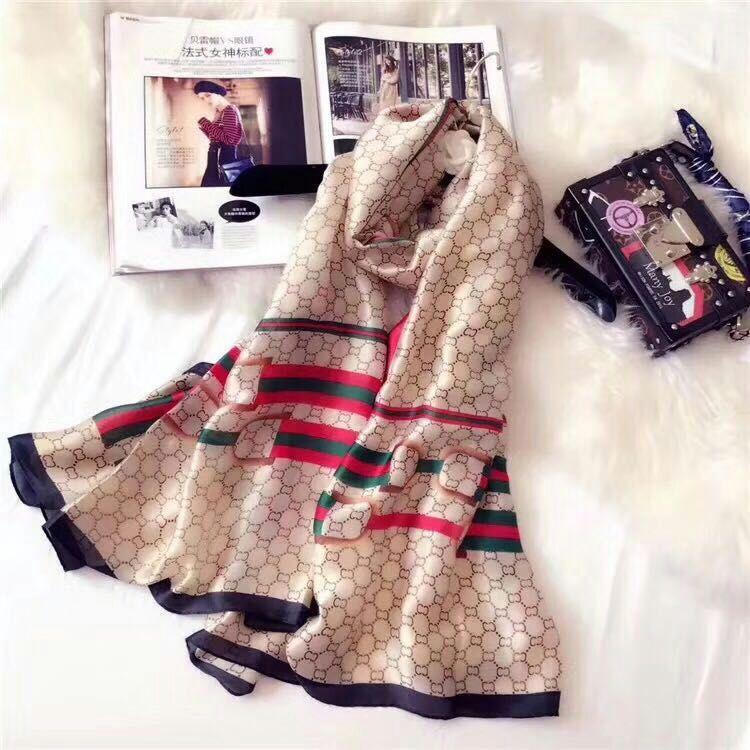 【安希娅】全桑蚕丝围巾W8120
