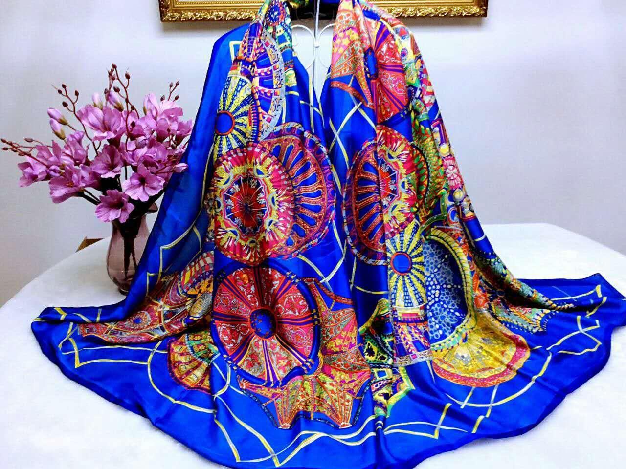 【安希娅】全桑蚕丝围巾W8124