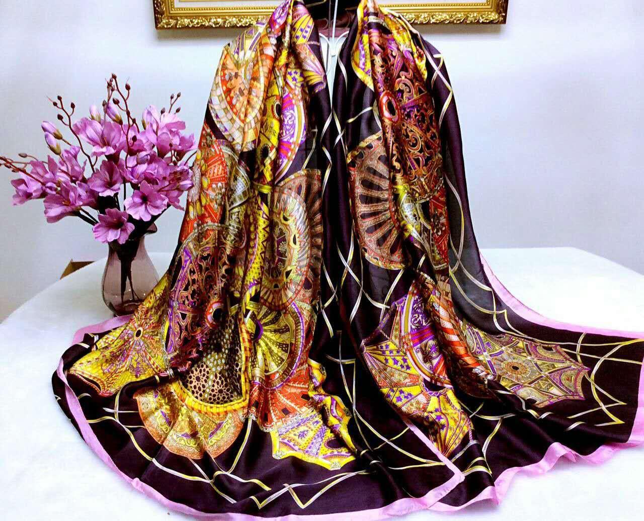 【安希娅】全桑蚕丝围巾W8125
