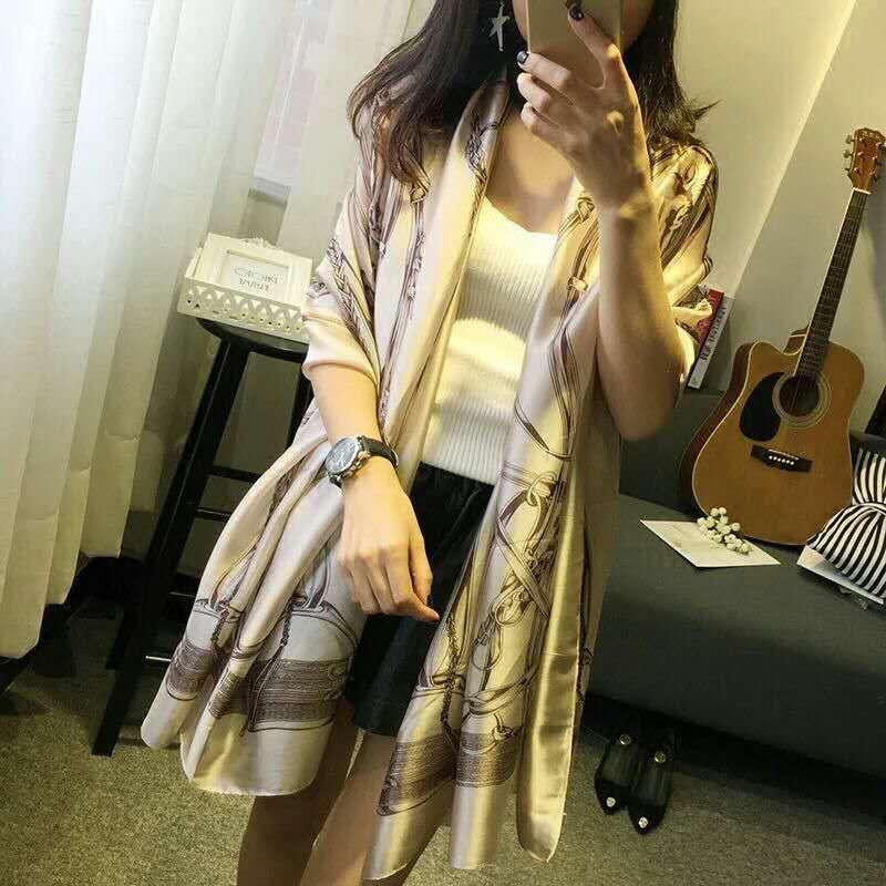 【安希娅】全桑蚕丝围巾W8127