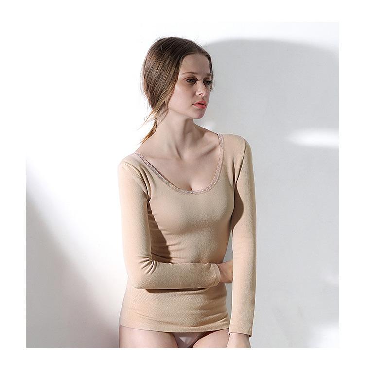 【安希娅】竹纤维加厚毛圈保暖单衣Y9106